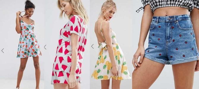 frutta moda estate 2017 abbigliamento