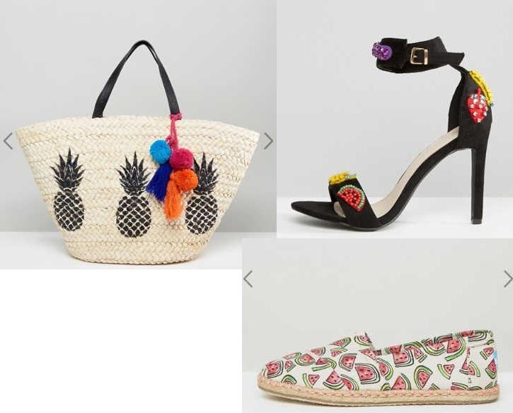 frutta moda estate 2017 scarpe borse