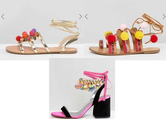 tendenze ponpon estate 2017 scarpe