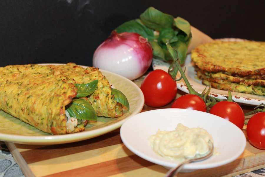 ricetta mini tacos di zucchine mini piadine di zucchine