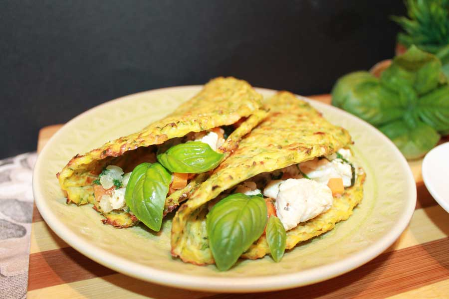 ricetta mini tacos di zucchine con filetto di tacchino