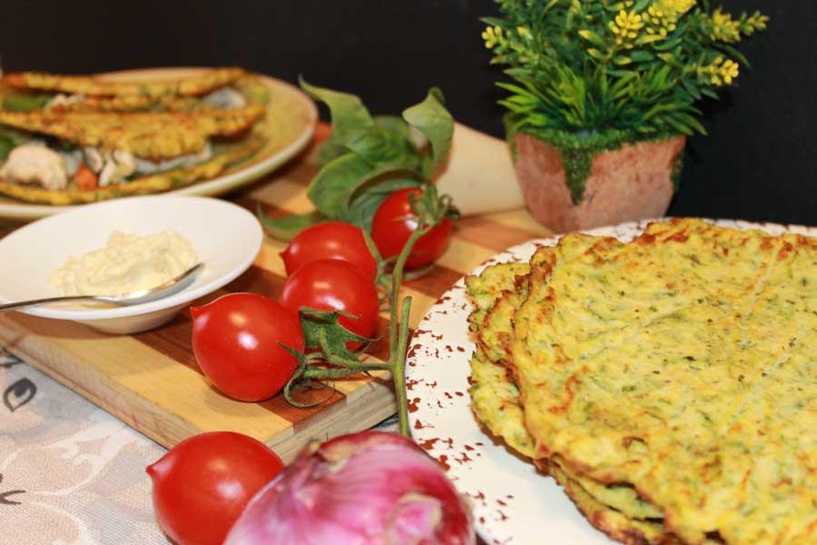 ricetta mini tacos di zucchine con filetto di tacchino e verdure