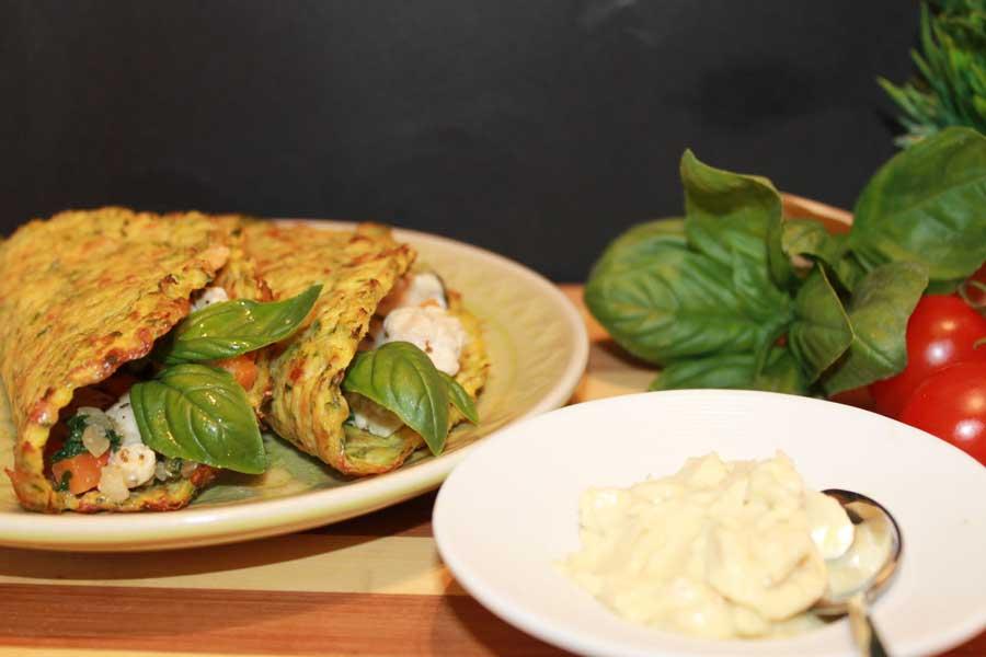ricetta mini tacos di zucchine con basilico fresco e verdure