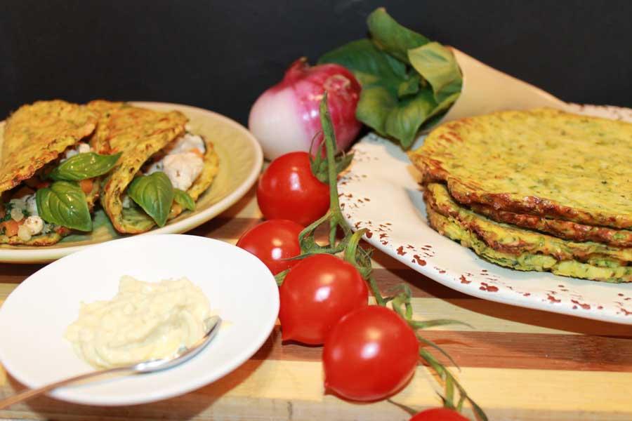 ricetta mini tacos di zucchine con basilico fresco e parmigiano