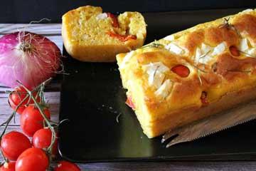 ricetta plumcake con feta e zafferano