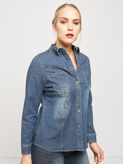 fiorella rubino 2018 camicia jeans