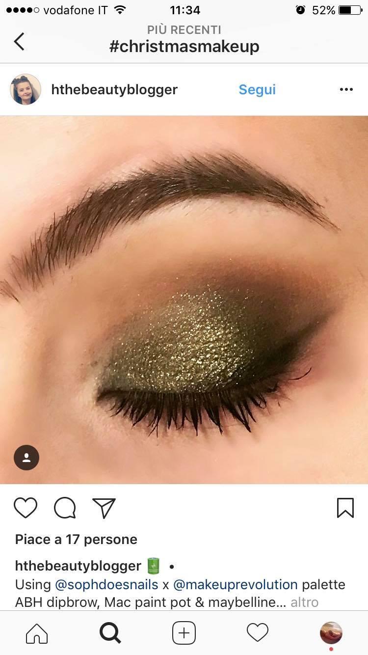 trucco natale 2017 glitter