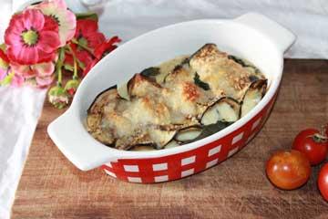 Ricetta involtini morbidi di melanzana con provoletta e mozzarella