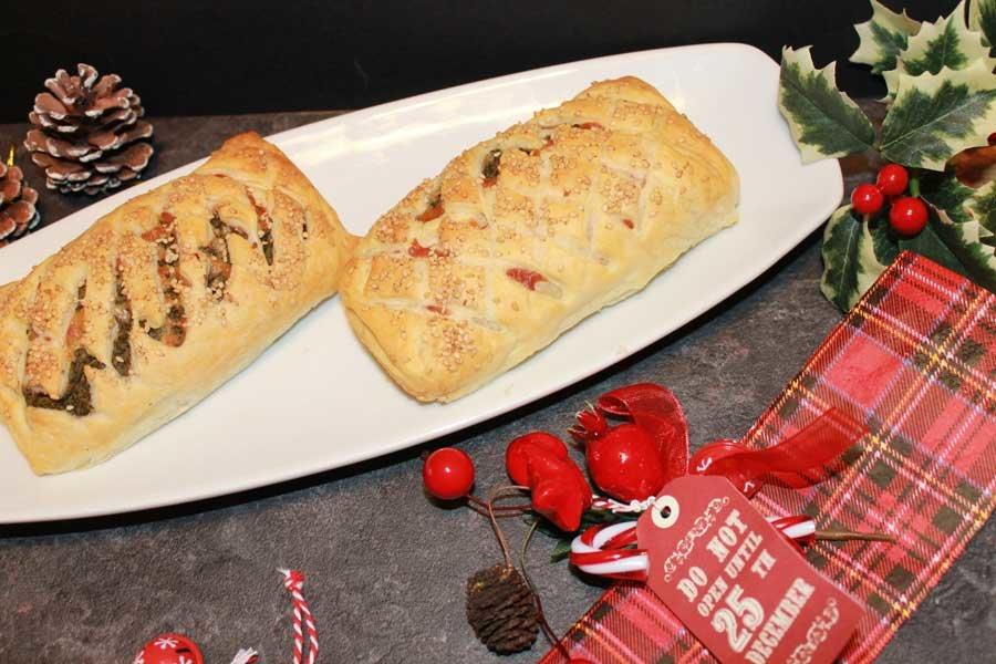 ricetta mini strudel vegetariani natalizi