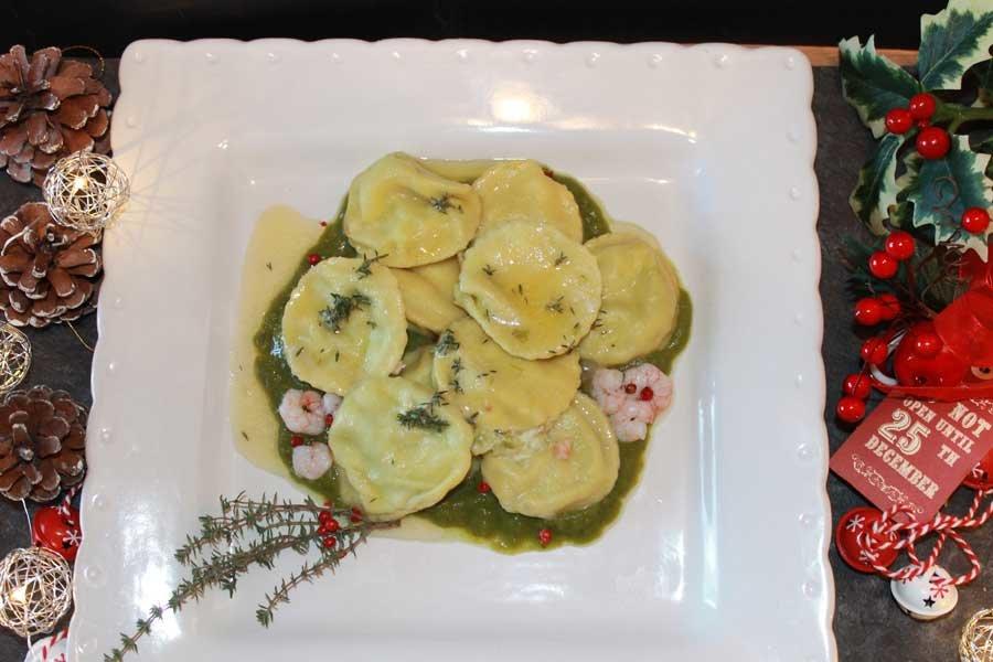 ricetta ravioli gamberetti asparagi Arla formaggio spalmabile naturale