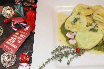 ricetta ravioli gamberetti Arla formaggio spalmabile naturale