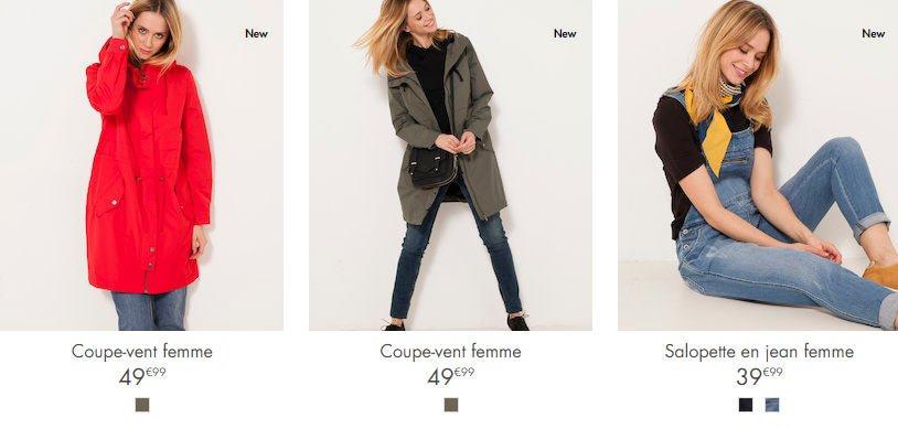 camaieu catalogo primavera estate 2018 cappotti