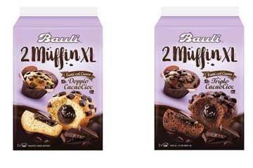 Bauli muffin XL doppio e triplo cioccolato