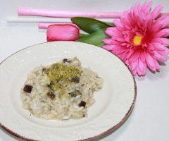 ricetta risotto melanzane e pistacchi