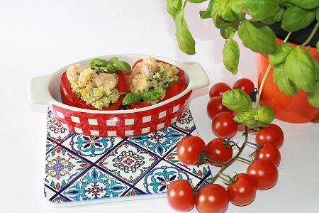 Ricetta peperoni ripieni di cous cous e gamberetti