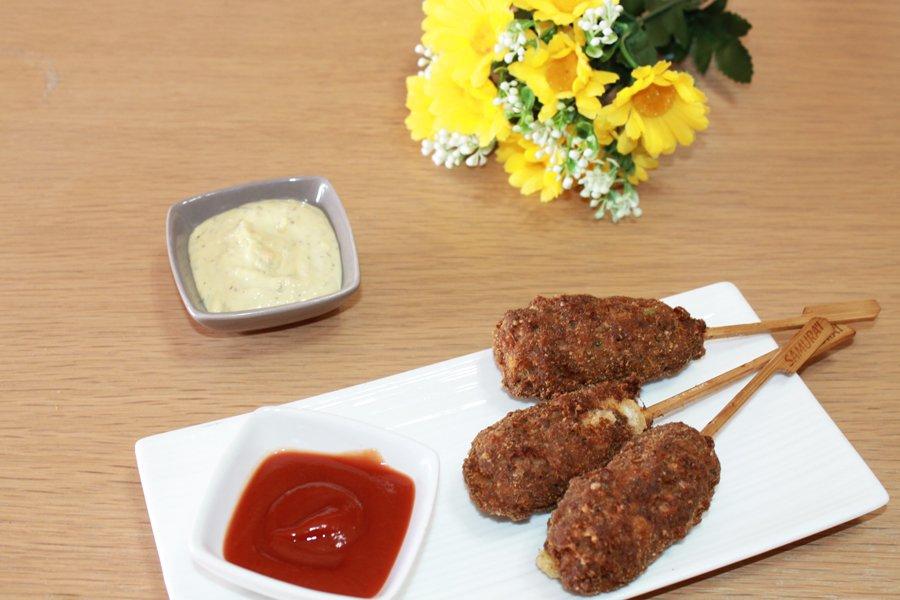 Ricetta corndog di carne e formaggio